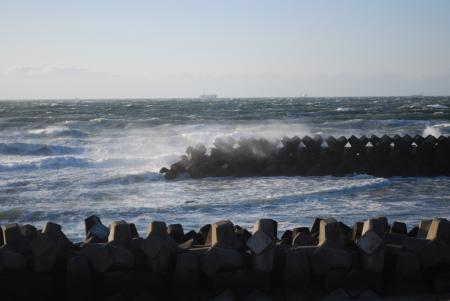 風速23m