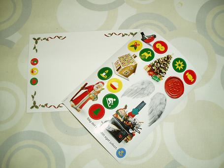 クリスマスカード&シール