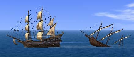 海賊船の沈没船
