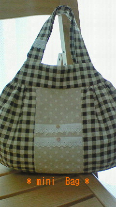 * mini Bag (Brown Checkドット) *