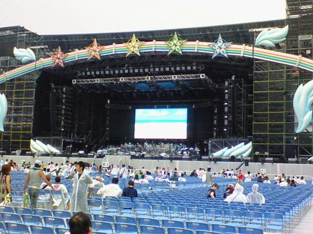 サザンライブ公演前のステージ