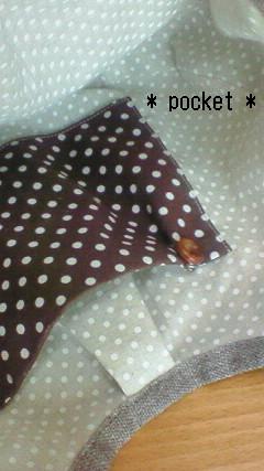 miniグラニーbag(chocolate)のポケット