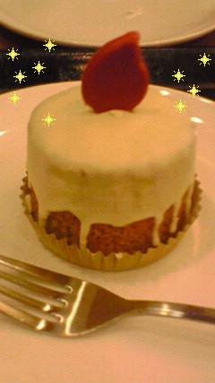 スタバのキャンドルケーキ