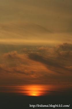 紫雲出山からの夕日2
