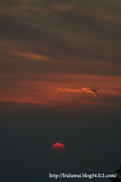 紫雲出山からの夕日1