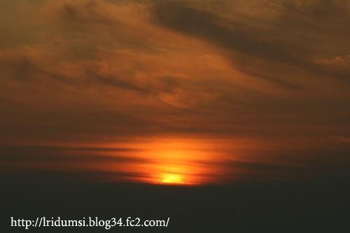 紫雲出山からの夕日