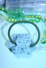 毛糸のヘアゴム 4