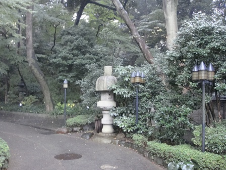 ホテルの庭1