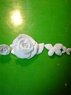 樹脂粘土薔薇 2日