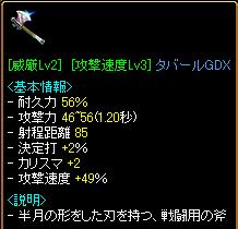 速度タバGDX