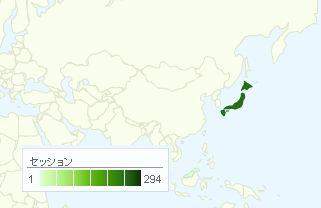 GoogleAnalytics 地図