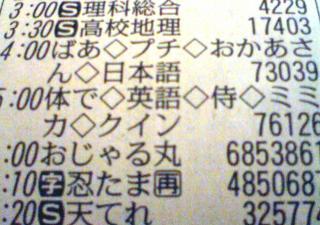 テレビ欄2