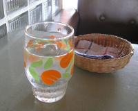 かわいいお冷グラス