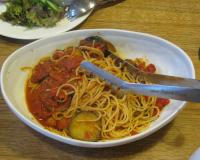 子供たちのトマトとナスのスパゲティー☆