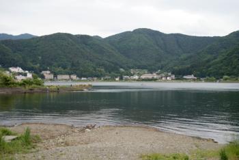 河口湖湖畔