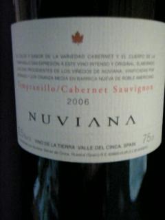 ヌヴィアナ テンプラニーリョ/カベルネ・ソーヴィニヨン2006