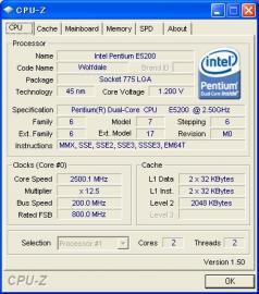 E5200 CPU-Z idle