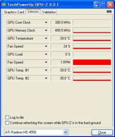 HD4550 GPU-Z idle