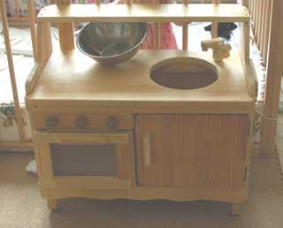 木工で作ったままキッチン