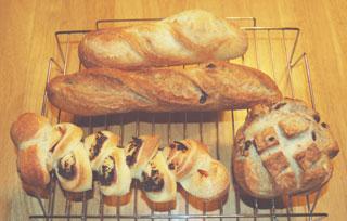 フランスパン四種