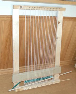 自作織り機