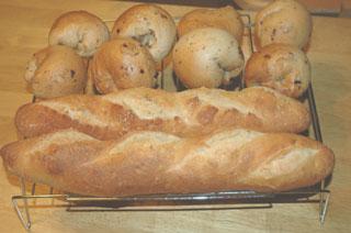 フランスパンとベーグル