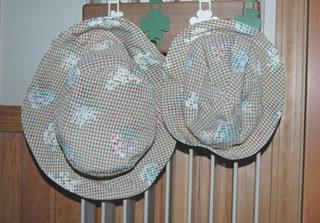 母子おそろい帽子