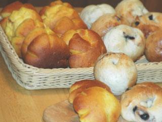 にんじんパンとブルーベリーベーグル