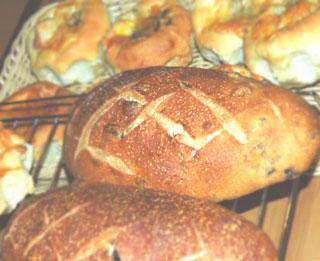 レーズンと胡桃のパン