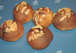 シュレットベーコンのパン