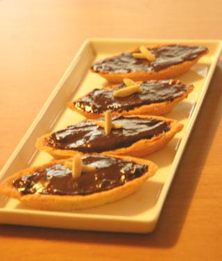焼きチョコタルト・余り生地