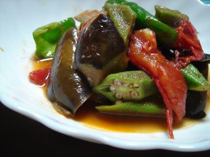 夏野菜ピリ辛アンチョビ