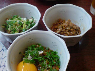 3つの納豆