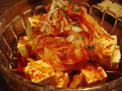 豆腐オニオンサラダ