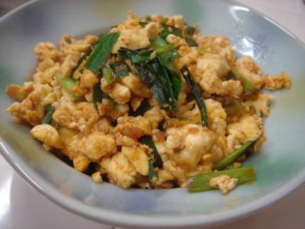 ピリ辛炒り豆腐