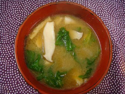 レタス味噌汁