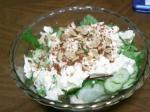 豆腐と鶏のささみ入りサラダ