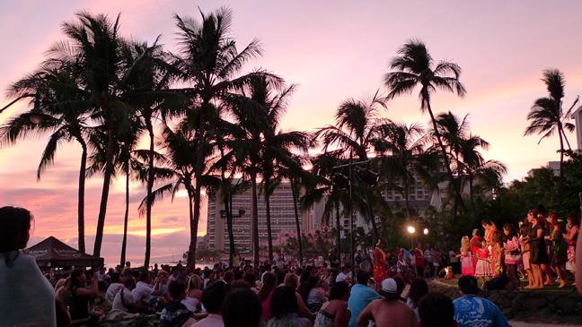 sun set hula