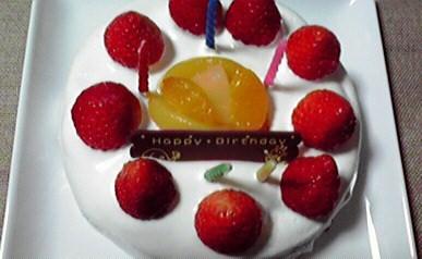 長男誕生日ケーキ