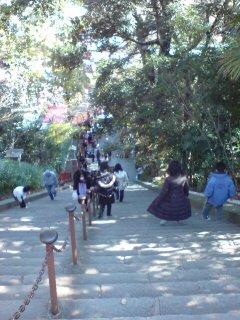 浅間神社・下り階段
