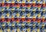 スモッキング刺繍 格子 色違い 青-青