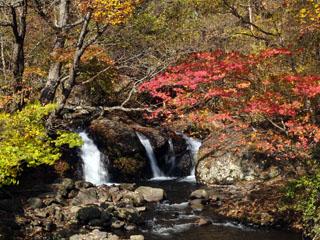 武尊温泉近くの小滝