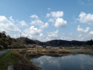 秋川と丘陵