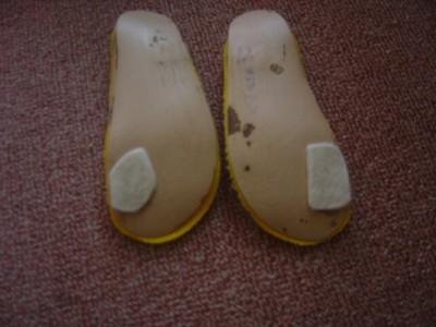 内反足用の靴の中敷写真
