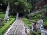 神峯寺本堂への階段
