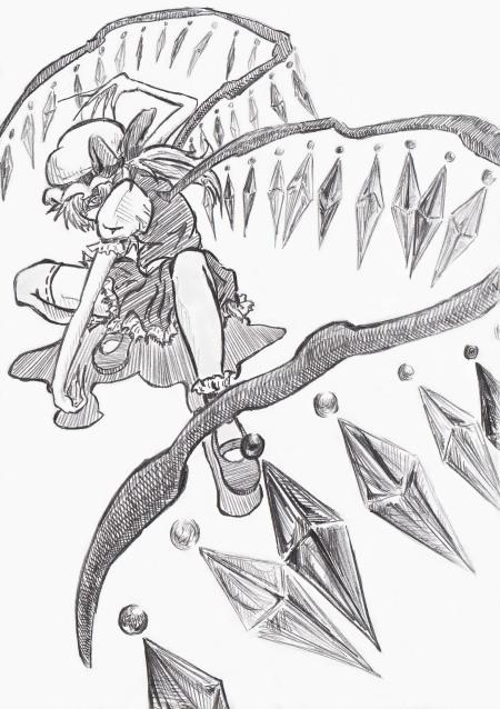 羽描くのが楽しかったせいでどうにもやり過ぎた…結晶多過ぐる