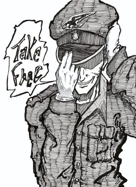 軍服描けなし、いと描けなし