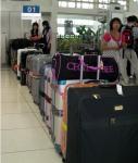 スーツケースの行列