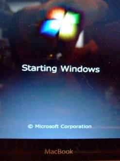 MacBook上で起動するWindows7 その2