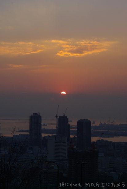 神戸最初の日の出